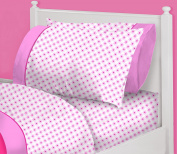 Heritage Kids Pink Flowers Sheet Set, Full