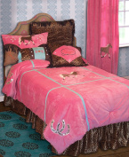 Carstens Cowgirl Leopard Bedding Set, Full
