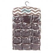 aBaby Chevron Hanging Organiser, Taupe, Name Claire