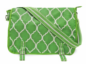 All For Colour Lime Quatrefoil Messenger Bag