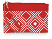All For Colour Red Geo Wristlet