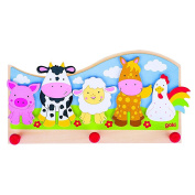 "Goki Children ""Animals On The Farm"" Coat Rack"