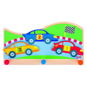 "Goki Children ""On The Race Track"" Coat Rack"