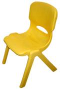 A+ ChildSupply Junior Yellow Plastic Chair