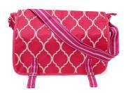 All For Colour Pink Quatrefoil Messenger Bag