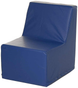 Foamnasium Straight Back Chair, Blue