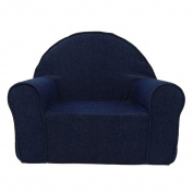 Fun Furnishings 60101 My First Kids Club Chair in Denim Fabric, Dark Blue