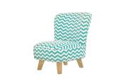 Babyletto Pop Mini Chevron Chair, Blue/Turquoise