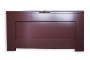 FireSkape The Chloe Window Seat Toy Box with Built in Concealed Right Hand Oriented Safety Ladder in Brown Dark Truffle