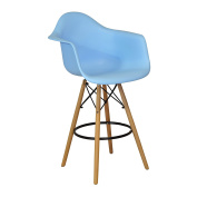 Design Tree Home Charles Eames Style DAW Counter Stool, Blue ABS Plastic (Blue)