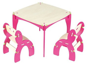 Buildex Freedom Table and Chair Set, Fuschia