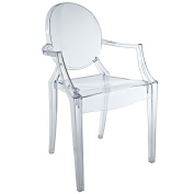 Plutus Brands MF1103 Kids Chair, Clear