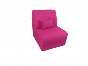 Fun Furnishings Canvas Teen Chair with Pillow, Fuchsia