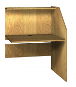Ironwood Study Carrel Adder, Natural Oak