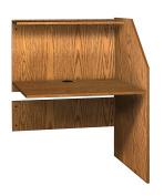 Ironwood Study Carrel Adder, Dixie Oak
