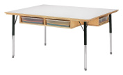 Jonti-Craft 55225JC Table with Storage and Clear Paper-Trays, 38cm - 60cm Height