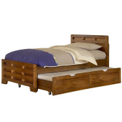 American Woodcrafters Heartland Twin Captain's Bed with Trundle