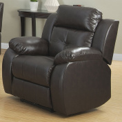 Christies Home Living Troy Power Reclining Chair, Espresso Reconstituted Leather