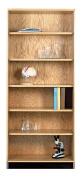 Diversified Woodcrafts 301-3622 UV Finish Oak Wood Storage Bookcase, 90cm Width x 210cm Height x 60cm Depth