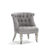 ZENTIQUE Amelie Slipper Children Chair, Grey Linen