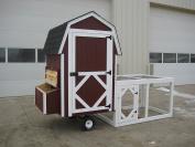 Little Cottage Company Gambrel Barn Run Coop Panelized Playhouse Kit, 1.2m x 1.2m