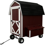 Little Cottage Company Barn Coop with Wheels Panelized Playhouse Kit, 1.2m x 1.8m