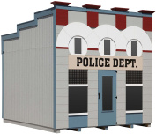 Little Cottage Company Police Department DIY Playhouse Kit, 3m x 3.7m