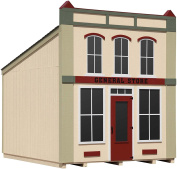 Little Cottage Company General Store DIY Playhouse Kit, 3m x 3.7m