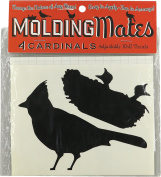 Moulding Mates Cardinals 4 Moulding Mates Home Decor Peel and Stick Vinyl Wall Decal Stickers