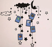 Dream Wall Decal with Photo Frames, Hanging Stars