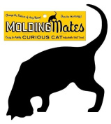 Moulding Mates Curious Cat Moulding Mates Home Decor Peel and Stick Vinyl Wall Decal Sticker