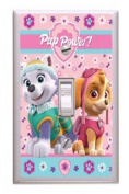 Got You Covered Nickelodeon Paw Patrol Puppy Patch Girls Wall Plate Light Switch Cover (1x Toggle), Pink