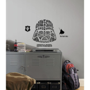 RoomMates Star Wars Typographic Darth Vader Peel and Stick Giant Wall Decals