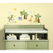 RoomMates RMK2635SCS Jungle Friends Peel and Stick Wall Decals