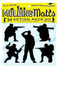 Moulding Mates Action Pack Military, Karate, Ninjas 34 Moulding Mates Home Decor Peel and Stick Vinyl Wall Decal Stickers