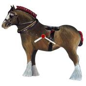 Intrepid International Brown Shire Horse-Shaped Clock