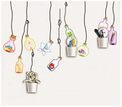 Dream Wall Wall Decal with Cup Holders, Hanging Bottles