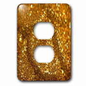 3dRose lsp_213527_6 Photograph of Gold Glitter 2 Plug Outlet Cover