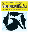 Moulding Mates Goldfinches 8 Moulding Mates Home Decor Peel and Stick Vinyl Wall Decal Stickers