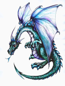 Wallmonkeys Dragon Peel and Stick Wall Decal, 46cm Height by 36cm Width