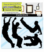 Moulding Mates Action Parkour 9 Moulding Mates Home Decor Peel and Stick Vinyl Wall Decal Stickers