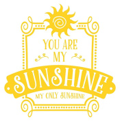 Wall Decor Plus More WDPM3761 My Only Sunshine Wall Letters For Kids Or Baby Room Vinyl Wall Sticker Decals, 60cm x 60cm , Yellow