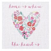 """Stratton Home Decor SHD0056 Canvas Wall Art, """"Home"""""""