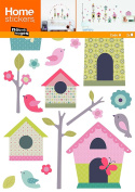 Nouvelles Images HOST1905 Houses of Birds Kids Wall Decals