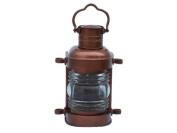 Hampton Nautical Antique Copper Masthead Oil Lamp, 36cm , Copper