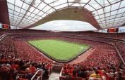 Wallmonkeys Emirates Football Stadium View - 60cm W x 38cm H - Peel and Stick Wall Decal