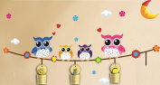 Dream Wall Owls Wall Decal with Cup Holders
