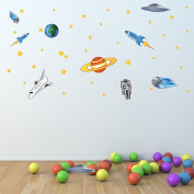 Style and Apply Colourful Space Wall Decal Set
