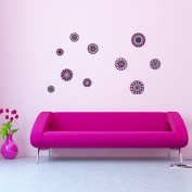 Style and Apply Retro Flowers Wall Decal Set