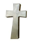 Faith and Praise Illuminations CR111 Wall Hanging Cross Pearl Metallic Painted